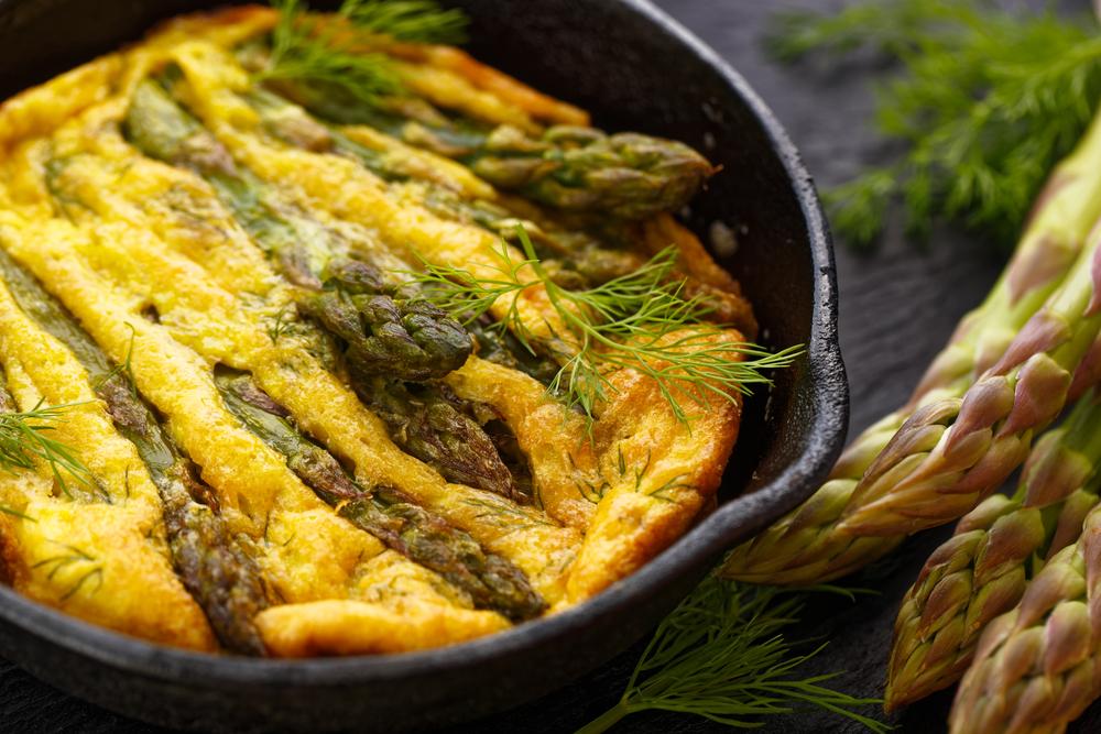 Ricetta della frittata di asparagi selvatici