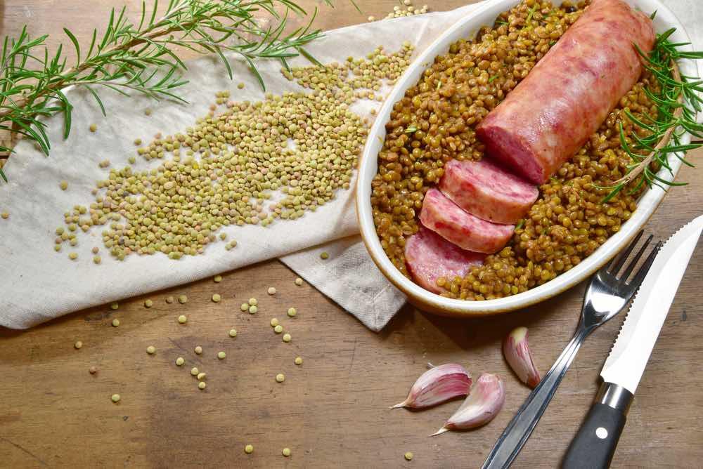 Pig Trotter & Lentils Italian Tradition