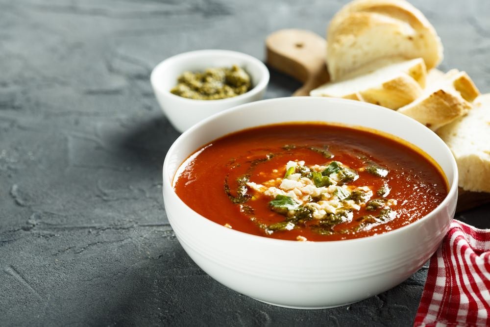 Cozy Up with This Homemade Tomato Soup Recipe (with Italian Pesto)