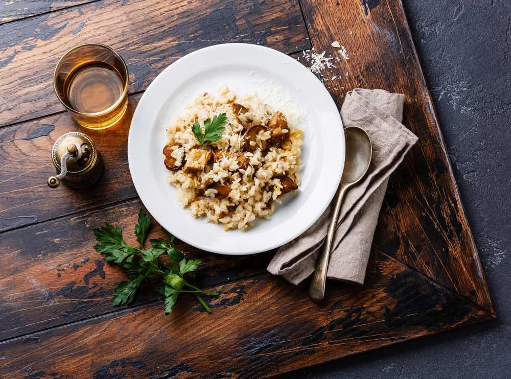 La ricetta del risotto ai funghi porcini